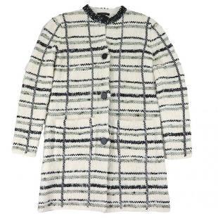 Authentic Louis Vuitton 16AW Plaid No Color Tweed Knit
