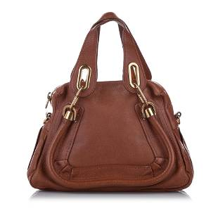 Authentic Chloe Small Paraty Leather Satchel