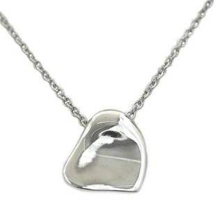 Authentic Tiffany Necklace Silver Peretti Full Heart Ag