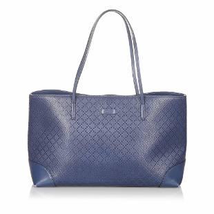 Authentic Gucci Diamante Bright Leather Tote Bag