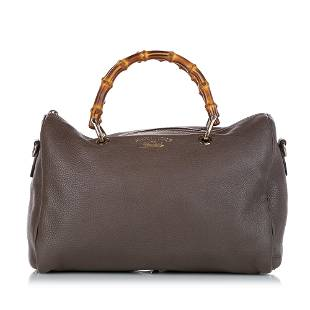 Authentic Gucci Bamboo Leather Satchel