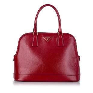 Authentic Prada Saffiano Lux Handbag