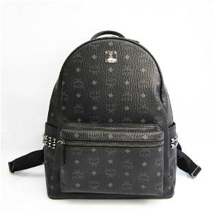 Authentic MCM Visetos MMK6SVE38BK001 Unisex Leather,PVC