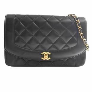 Authentic Chanel Lambskin Diana Flap Matelasse Coco