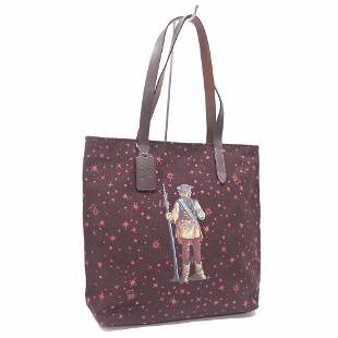 Authentic Coach Tote Bag Ladies Red Canvas F88039 Hand