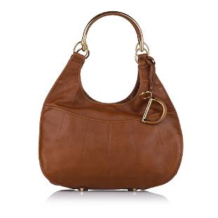 Authentic Dior 61 Leather Shoulder Bag