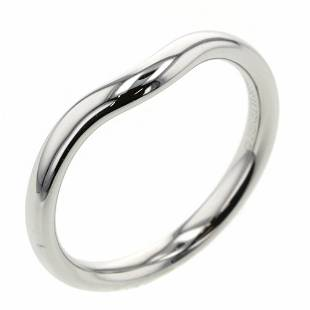 Authentic Tiffany Ring / Curved Band Width Approx. 2mm