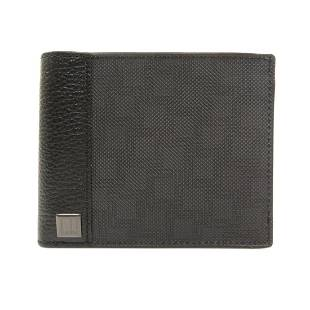Authentic Dunhill logo hardware bi-fold wallet PVC