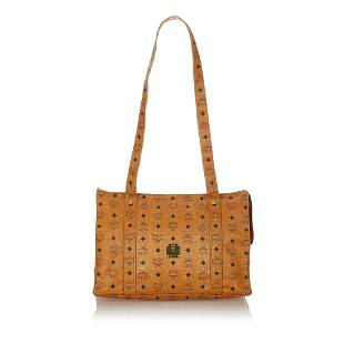 Authentic MCM Visetos Leather Tote Bag