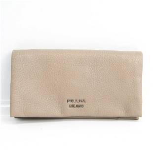 Authentic Prada CERVO 1MS001 Women's Leather Long