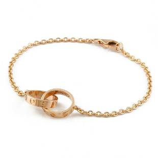 Authentic CARTIER K18PG Bracelet Baby Love Pink Gold