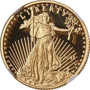Authentic 2011-W Gold American Eagle $5 NGC PF70 Ultra