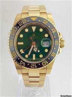 Authentic Rolex GMT Master II 18k Yellow and Steel