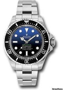 Authentic Rolex Sea-Dweller 116660 dbl DEEP BLUE DIAL