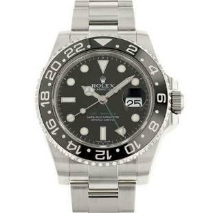 Authentic Rolex GMT Master 2 116710LN Black Dial