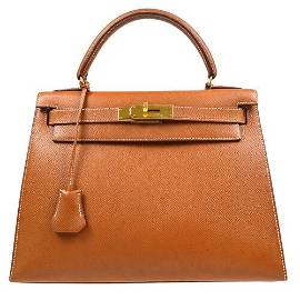 Authentic HERMES KELLY 28 SELLIER 2way Hand Bag