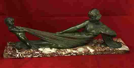 """Original Antique D. H. Chiparus Bronze Sculpture 29.5"""""""