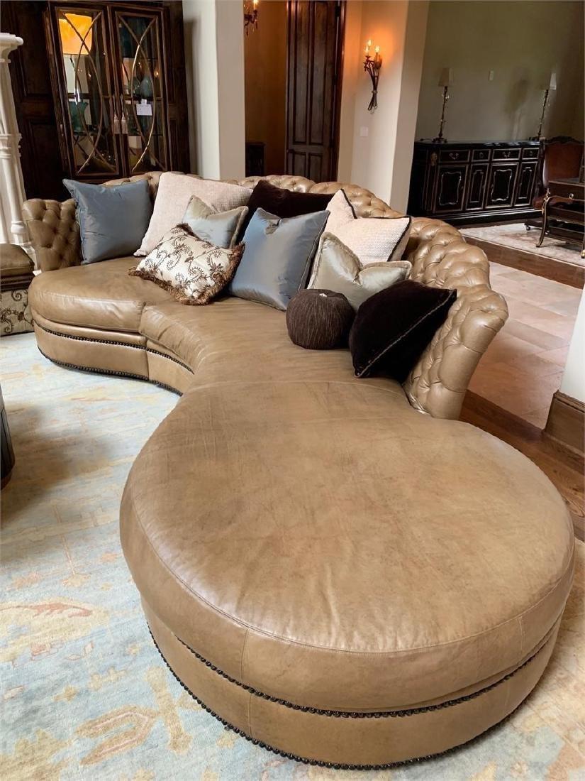 Marge Carson Leather Sofa