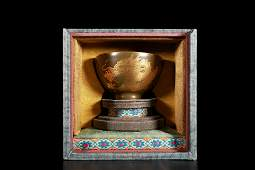 A golden cup with tea froth in Qianlong of Qing Dynasty