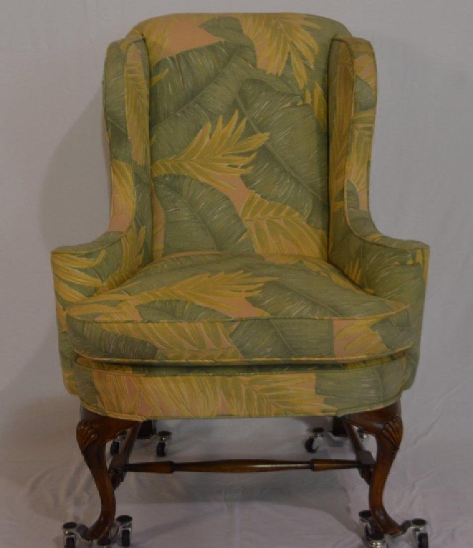 Queen Anne Style Wing Armchair