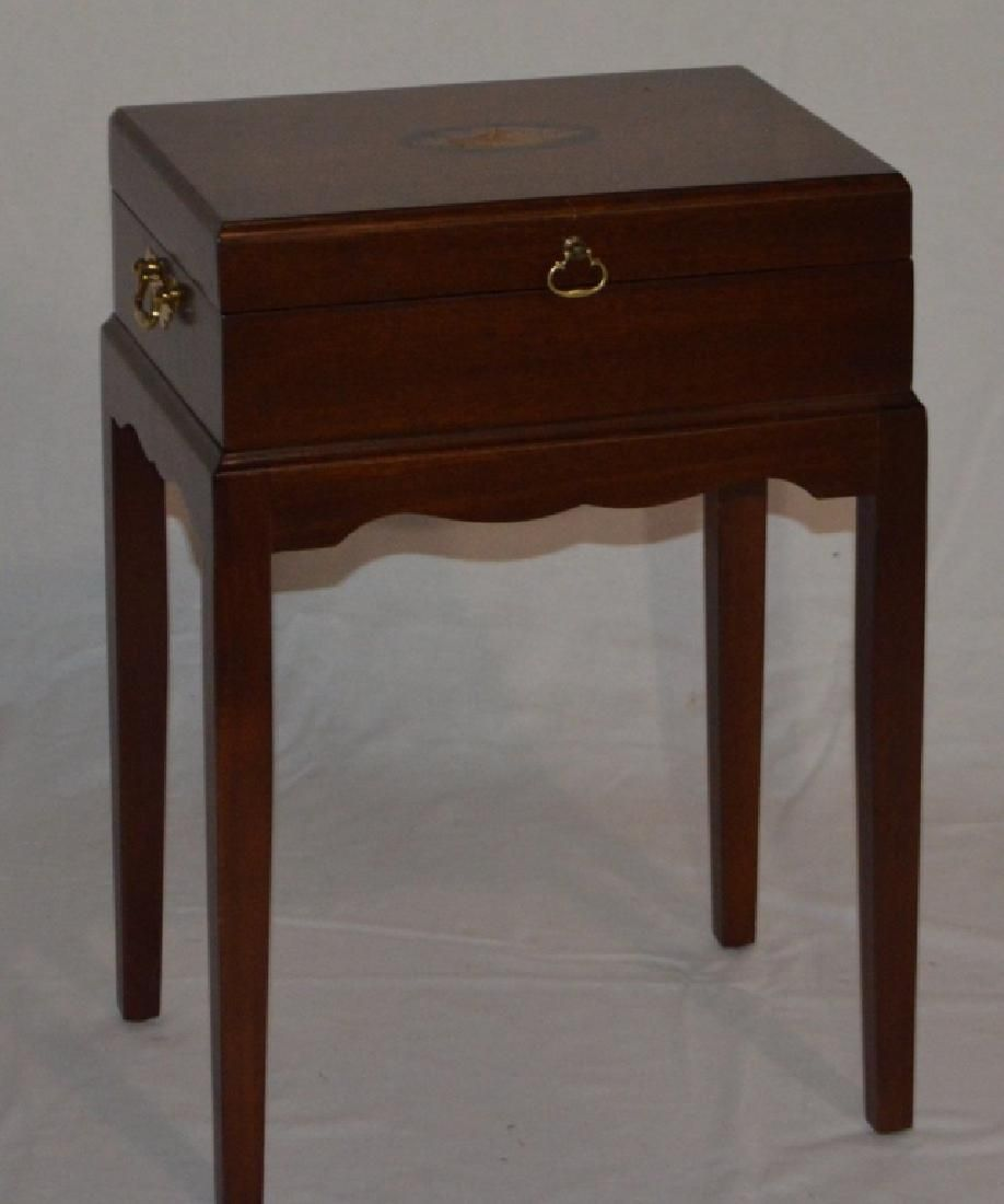 George III Style Mahogany Box on Stand