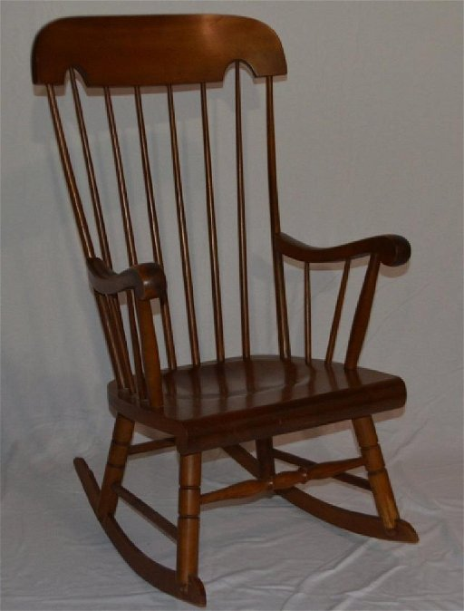 Pleasant Vintage Windsor Style Rocking Chair By Tell City Jun 26 Gmtry Best Dining Table And Chair Ideas Images Gmtryco