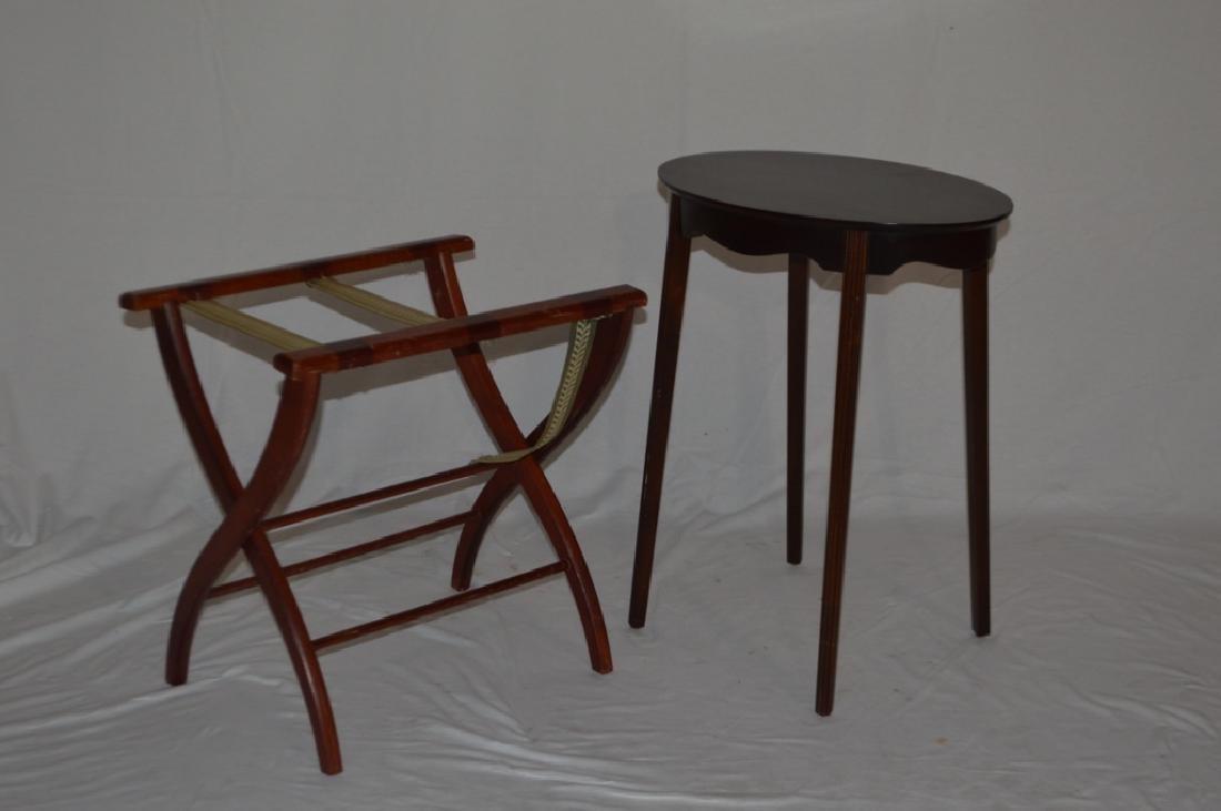 George III Style Side Table and Luggage Rack