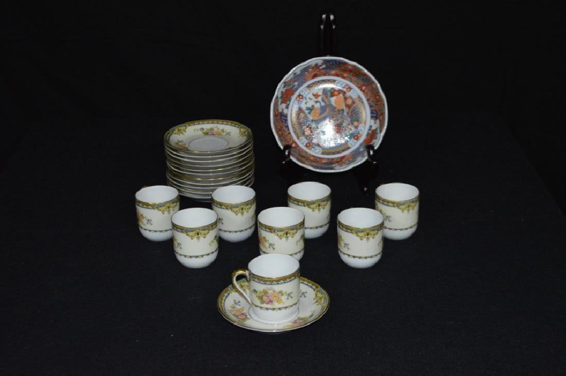 Set of Eight Noritake Demitasse Cups and Saucers