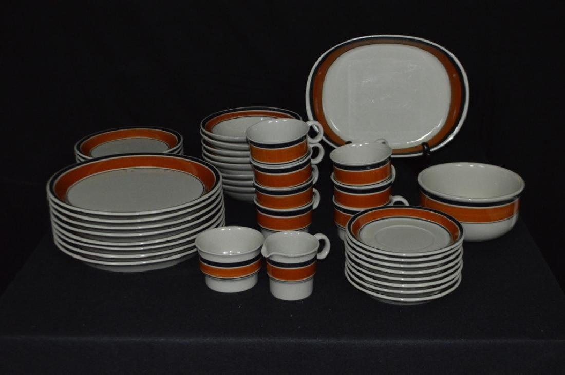 Hoganas Stoneware Dinner Service For Eight