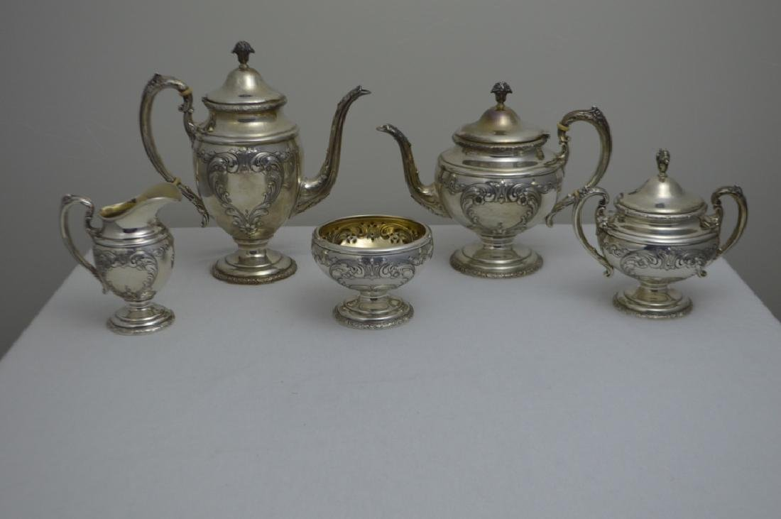 Towle Sterling Silver Five Piece Tea Set