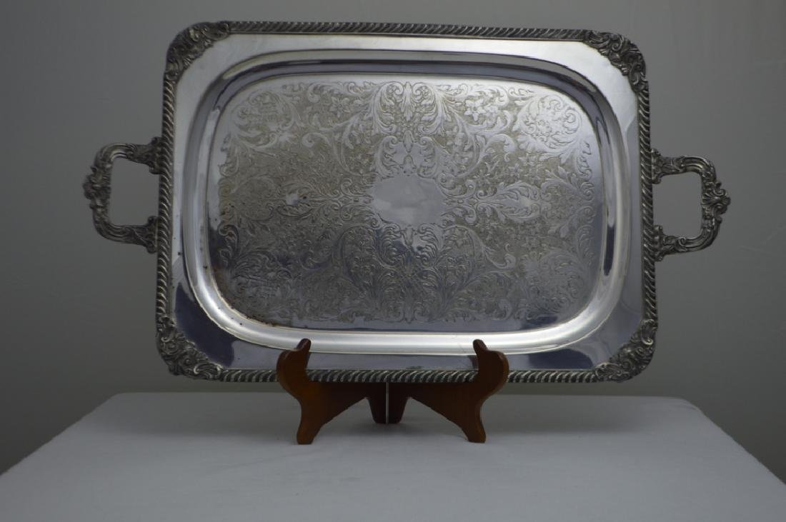 American Silver Plate Footed Serving Tray