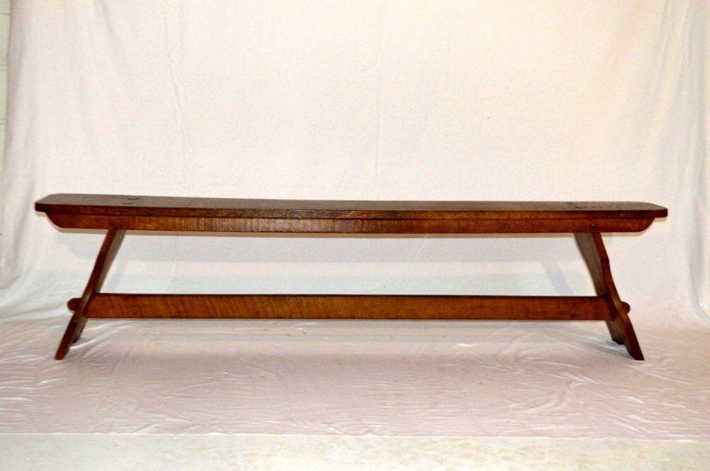 Antique American Oak Bench