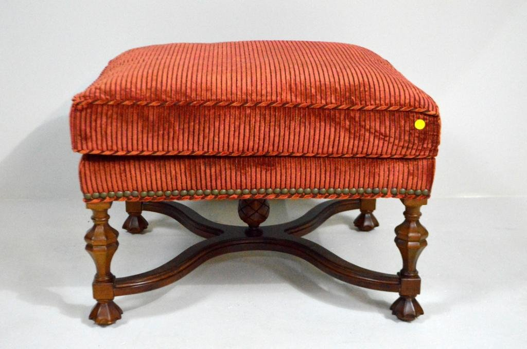 William and Mary Style Ottoman by Lee Jofa