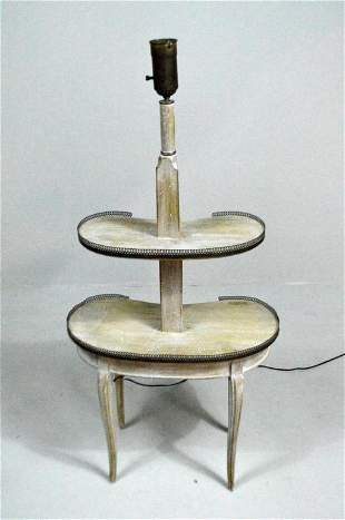 Louis XV Style Lighted Two Tiered Table