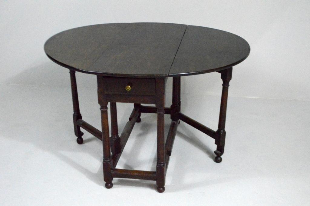 William and Mary Oak Gate-Leg Table, Circa 1860