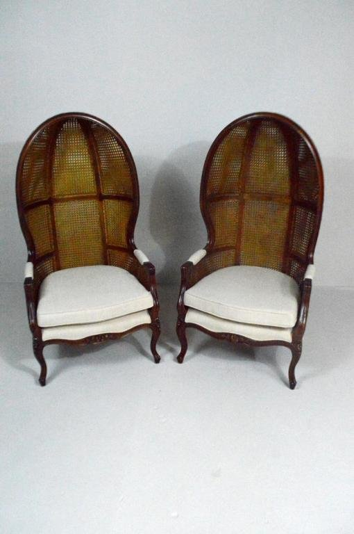 Pair of Rattan Porter Chairs