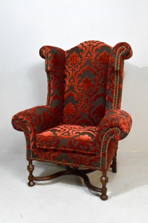 Monumental William and Mary Style Chair by Lee Jofa