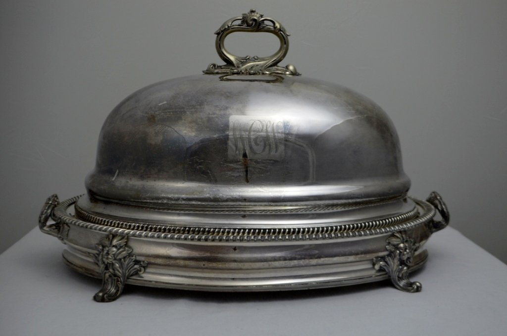 American Silver Plate Roast Server with Dome Lid