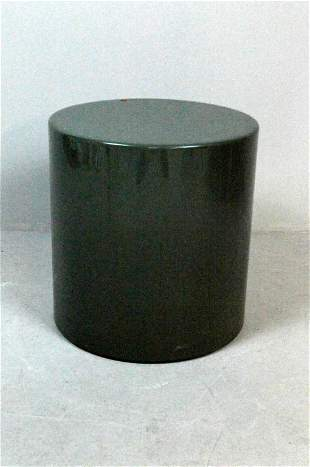 Green Round Side Table