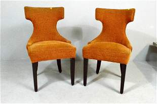 Pair of Burnt Orange Mid-Century Chairs