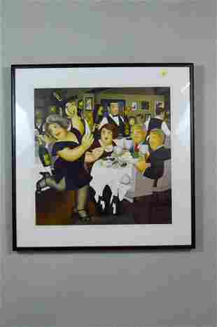"Beryl Cook Signed/Numbered 'Dining Out""  Lithograph"