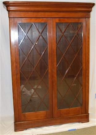 Late Federal Glazed Cherry Bookcase