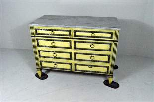 Polychrome Neoclassical Style Chest of Drawers