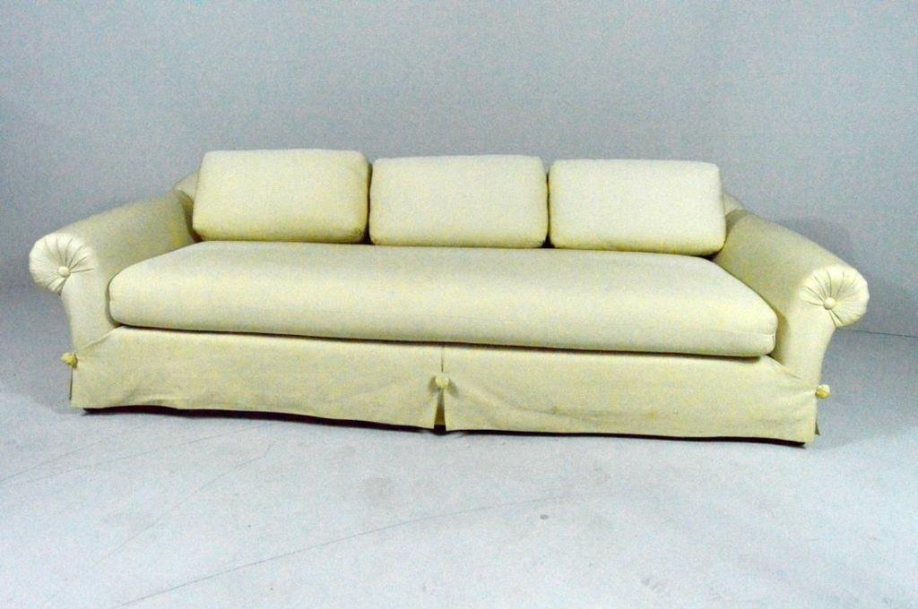 Modern Ecru Three Cushion Sofa