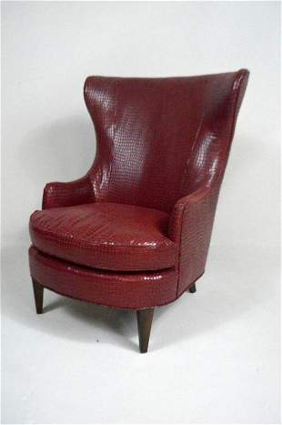 George III Style Wingback Arm Chair by Ambella