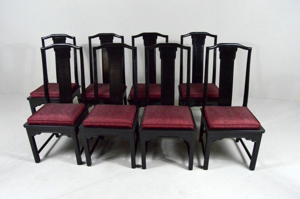 Set of Eight Bittners Chinese Style Dining Chairs