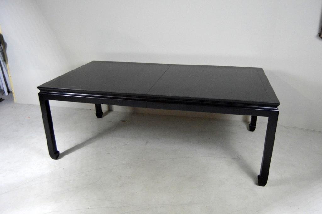 Bittners Black Lacquer Chinese Style Dining Table