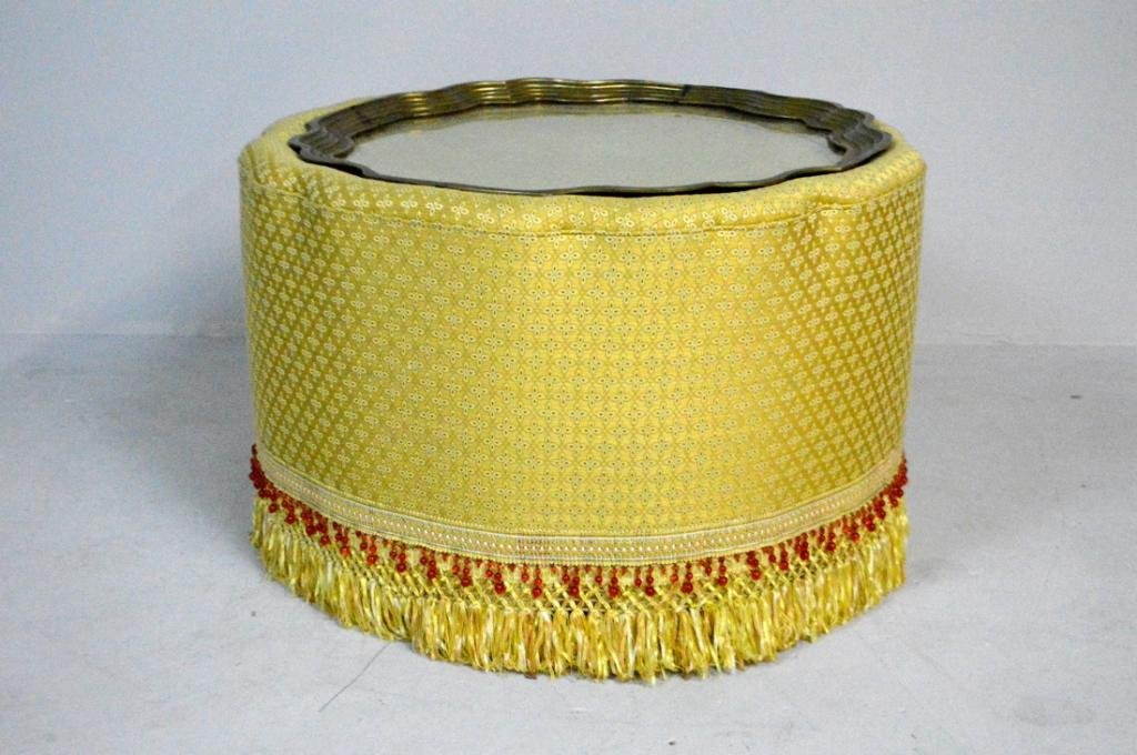 Moroccan Style Gold Upholstered Coffee Table