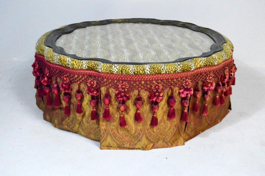 Large Moroccan Style Upholstered Coffee Table