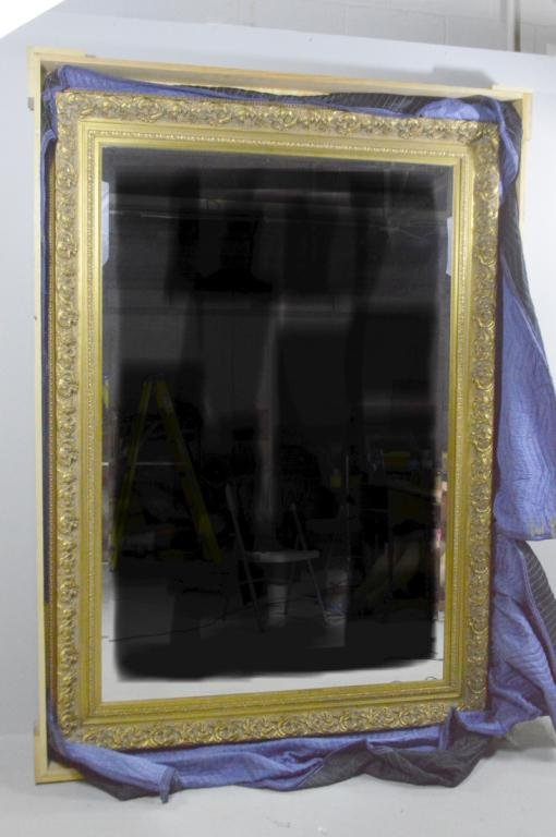 Monumental Gilt Wood Mirror